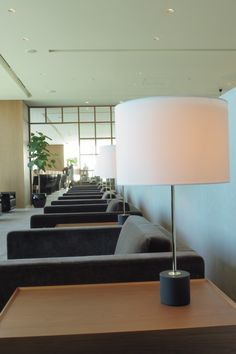 The cosy armchairs, lots of plants and soft lighting add a homey touch to Cathay Pacific's lounge in Haneda, Tokyo.