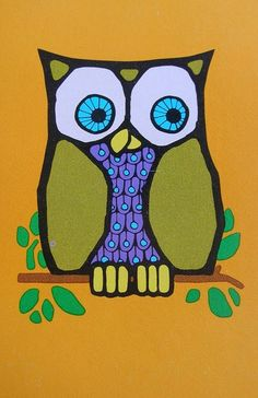 'Retro Owl' by Lee and Lenora