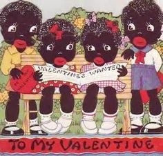 African American Vintage Valentine Day Card