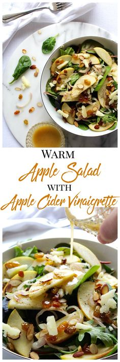 Warm, yet crisp apples and sautéed shallots with a tangy apple cider vinaigrette will woo you into eating greens all year long!