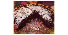 Schokoladen-Blaubeer-Kuchen mit Quarkguss