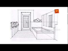 Perspective Drawing: Intermediate 20 inter one point ex 02 - YouTube