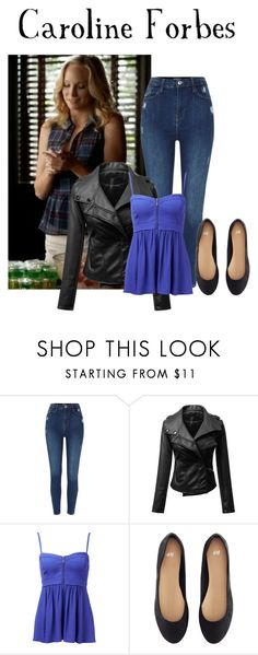 """""""Vampire Diaries"""" by queenmarymargaret ❤ liked on Polyvore featuring Forever New and H&M"""