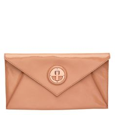 I love it because it manages to be classic and a bit different all at the same time. The salmon coloured leather works so well with the rose gold turnlock. They're such a cute couple. Envelope Clutch, Clutch Bags, Salmon Color, Rose Gold Color, Bag Sale, Evening Bags, Cute Couples, Continental Wallet, Fashion Online