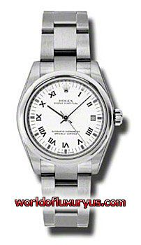 177200-WRO - This Rolex Oyster Perpetual No-Date Mid-Size Mens Watch, 177200-WRO features 31 mm Stainless Steel case, White dial, Sapphire crystal, Fixed bezel, and a Stainless Steel bracelet. Rolex Oyster Perpetual No-Date Mid-Size Mens Watch, 177200-WRO also features Automatic movement, Analog display. This watch is water resistant up to 30m/100ft. - See more at: http://www.worldofluxuryus.com/watches/Rolex/No-Date/177200-WRO/641_802_6400.php#sthash.J2XA03AS.dpuf
