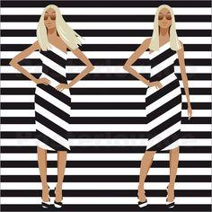 Nixe - cross stripe model