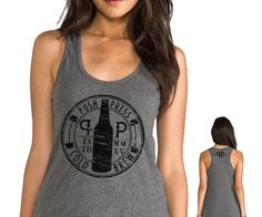 Cold Brew and Crossfit! PushPress Coffee/ Cold Brew women Tank top by TriarchyDesign