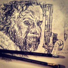 """""""I was just catching up on some #walkingdead and decided to #draw #rickgrimes while I was watching!  Can't wait to see what's next!  I thought #glenn was…"""""""