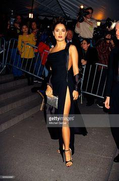 Salma Hayek at the Metropolitan Museum of Art's Costume Institute Gala honoring the work of Gianni Versace.