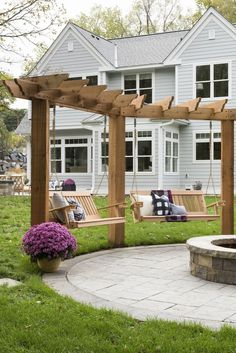 two gazebos with swing and pergola roof ., two gazebos with swing and pergola roof # backyard landscaping Whilst old within concept, this pergola continues to be having a bit of a modern-day rebirth these kinds. Diy Pergola, Building A Pergola, Pergola With Roof, Wooden Pergola, Pergola Shade, Diy Patio, Outdoor Pergola, Covered Pergola, Cheap Pergola
