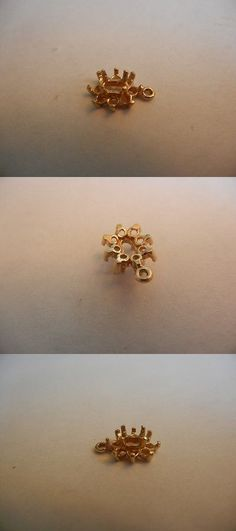 Other Jewelry Design Findings 164356: 14 K Gold Medium Dangle Pendant For 5X3 Center Gen W/ 8 Accent 2Mm Diamond BUY IT NOW ONLY: $40.0