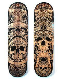 I dont skate Laser Etched Decks: Skateboard Deck Art, Skateboard Design, La Santa Muerte Tattoo, Longboard Design, Skate Art, Cool Skateboards, Skate Decks, Affinity Designer, Longboarding