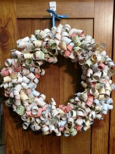 DSP Curly paper wreath