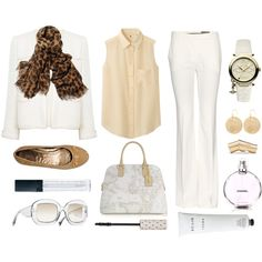 """""""White and beige!"""" by modapty on Polyvore"""