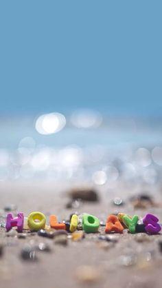 blue brown . beach words . holidays