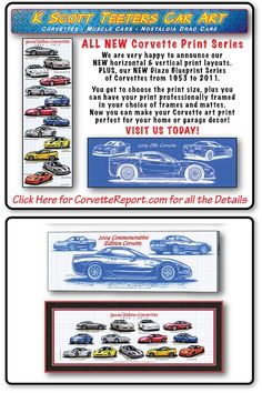 The size you want! Framed the way you want! Corvette History, Car Prints, Gear Art, Print Layout, Corvettes, New Print, Custom Framing, More Fun, Art Drawings