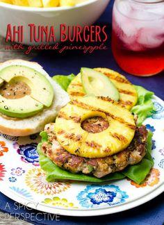 Burger de thon et ananas