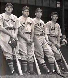 joe cronin, jimmie foxx, lefty grove, roger cramer 1938
