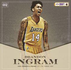 Welcome to the Los Angeles Lakers Brandon Ingram.  Instagram @b_ingram13 / Twitter @B_Ingram13