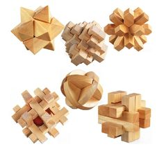 3D Wooden Cube Brain Teaser Puzzle, Set of 6 - Whose Turn Now Kongming lock is a traditional Chinese toy designed to entertain and boost IQ. Take them apart and then figure out how to assemble them. Easier said than done! Great if you love the mix of simplicity and challenge. The Kongming lock may look simple; but beware - it's easy to take apart and difficult to reassemble! Suitable for both children and adults - use your brain to find the solution that reconstructs the lock.