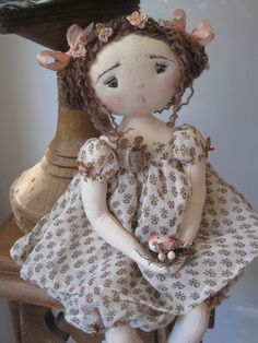 Amélie, French cloth doll