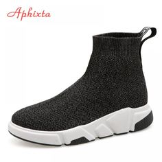Aphixta Shoes Women Height Increasing Ankle Boots Pointed Toe Fabric Slip-On Ladies Mujer Sping Snow L Fashion Woman Shoes. Product ID: Light Running Shoes, Running Shoes For Men, Woman Running, Summer Boots, Sock Shoes, Womens Flats, Woman Shoes, Shoes Women, Women Socks