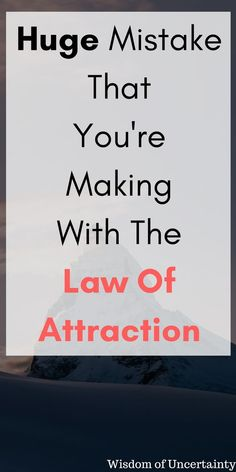 Law of Attraction not working for you? In this post I quickly show you what you are doing wrong and what you can do to fix it right away.