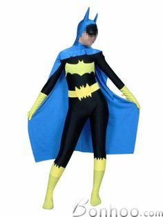 Spandex Lycra Unisex Batwoman Batgirl Superhero Costume