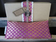 Lavender eye pillow with Indian silk cover  pink by KusalaGifts