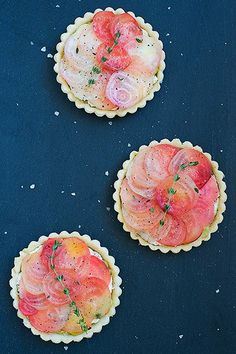 Spoonful: Perfect portion: chioggia beet and goat cheese tartlets