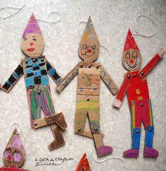 Atelier des petits (mercredi 10h-11h, Château Keller de Grand Bourgtheroulde) Projet inspiré par la marionnette de Pinocchio du livre «Ateliers pour enfants» (Junko Nakamura…