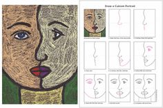 How to Draw a Cubism Portrait (ART PROJECTS FOR KIDS)