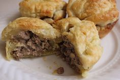 Empadinhas de Carne (Meat Pastries) (1) From: Full Bellies (2) Webpage has a convenient Pin It Button
