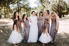 Stone gray bridesmai