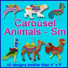 A Carousel Animals Pack - Sm design (X1987) from www.Emblibrary.com
