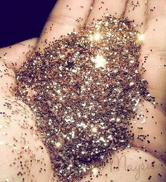 1/4 cup sugar and 1/2 teaspoon of food coloring mixed, bake10 mins in oven on 350* to make edible glitter.