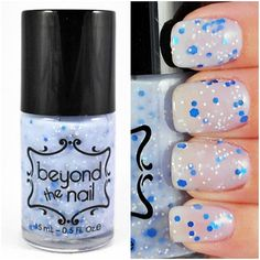 Blue Skies  Blue Crelly Nail Polish with Glitter