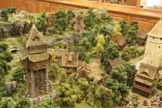 Sorn's Castle, Town, Tomb and Catacombs Diorama - Page 3 - Dwarven Forge Wargaming Table, Wargaming Terrain, Dungeons And Dragons Miniatures, D&d Dungeons And Dragons, Building Painting, Model Building, Game Terrain, Fantasy Places, Warhammer Fantasy