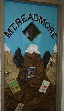 if you have the room! great bulletin board idea. can even take pics of kids in a mountain climbing position. Have them climb to the top as they read 100 books! - Dolores.