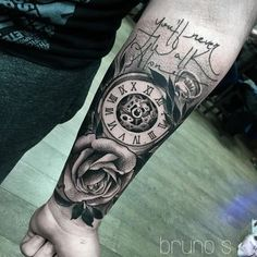 "731 Likes, 20 Comments - B R U N O S A N T O S (@brunosantostattoo) on Instagram: ""⏰ He'll add the hands of the clock later. Thanks @jonnomaguire #brunosantos #dublinink #ireland #BH…"""