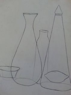VASES - 2015 Black and white sketch on paper