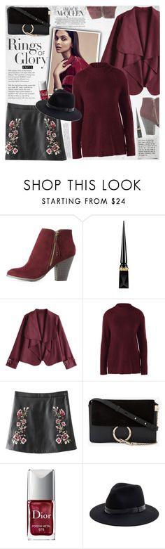 """""""Fall colors"""" by vanjazivadinovic ❤ liked on Polyvore featuring Della, Tiffany & Co., Charlotte Russe, Christian Louboutin, Chloé, Christian Dior, Sole Society, velvet, polyvoreeditorial and zaful"""