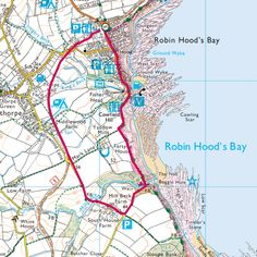 Walking Map, Walking Routes, Most Beautiful Beaches, Beautiful Places, Map Of Britain, Lulworth Cove, Robin Hoods Bay, South West Coast Path, Places In England