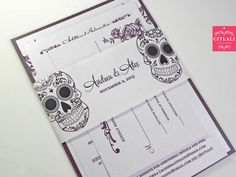 Day of the Dead / Sugar Skull Plum/Dark Purple