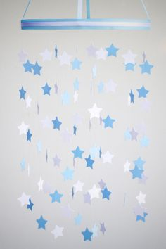 Baby Mobile  Star Mobile  Nursery Mobile in Light by BabyJayDecor, $58.00