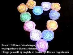 Roos LED colorchanging / stuk - Goedkoop-bloemschikken