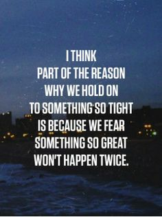 Why we hold on