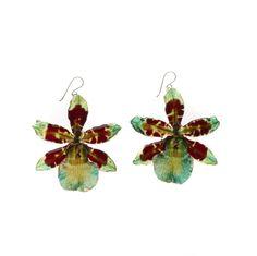 Real Orchid Earrings II Orchid Treasures Australia