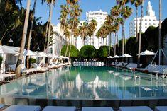 The world famous pool at the  Delano Hotel, Miami