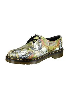 Dr.Martens Womens 1461 3-Eyelet George and Dragon Backhand Multi Leather Shoes 8.5 US